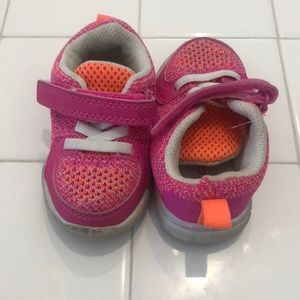Carters size 4 neon sneakers